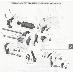 6-speed shifter parts