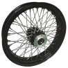 Black 60 spoke wheels