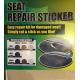 Seat repair patch, self-adhesive