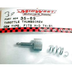 Grip Throttle thumbscrew.