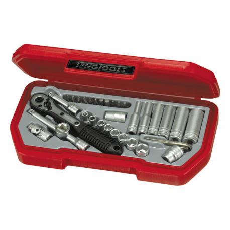 "Teng Tools, 1/4"" socket wrench set."