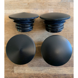 BLACK GAS CAP SET, DOMED/Pointed