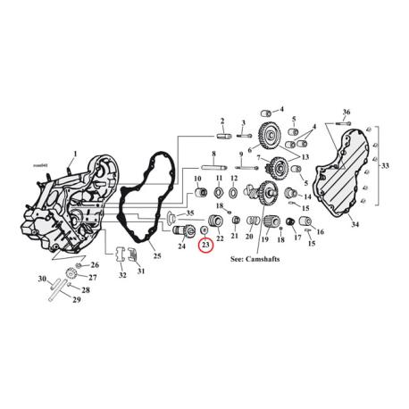 Breater valve spacer 50-E 77 B.T.
