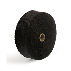 """Exhaust insulating wrap. 2"""" wide black"""