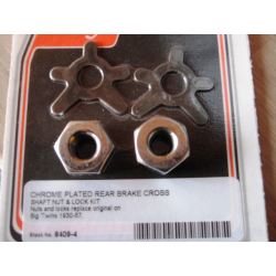BRAKE SHAFT LOCK & NUT KIT